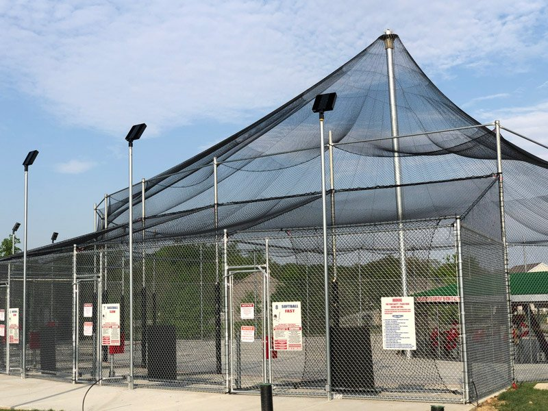 history of batting cages, ABC outdoor batting cage