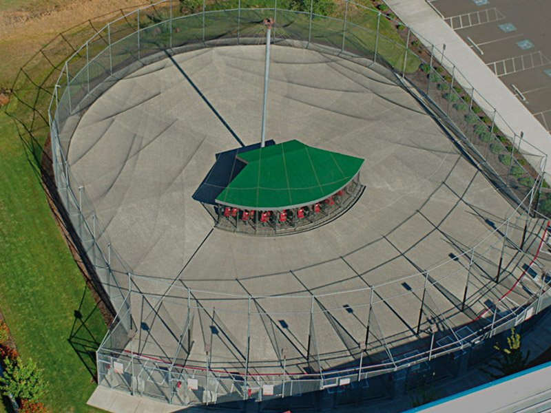 Aerial view of ABC outdoor system