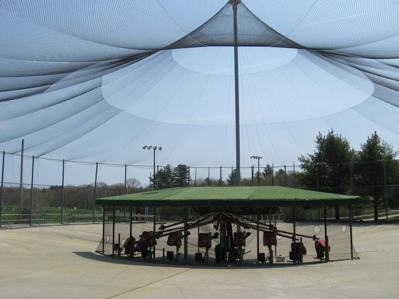 history of batting cages, ABC pitching machines