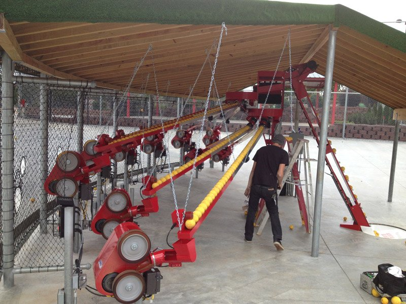 history of batting cages, ABC pitching machines and conveyor system