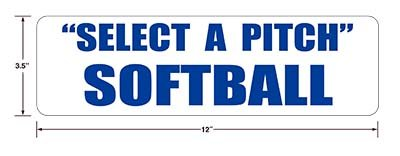 Select-a-Pitch Softball sign