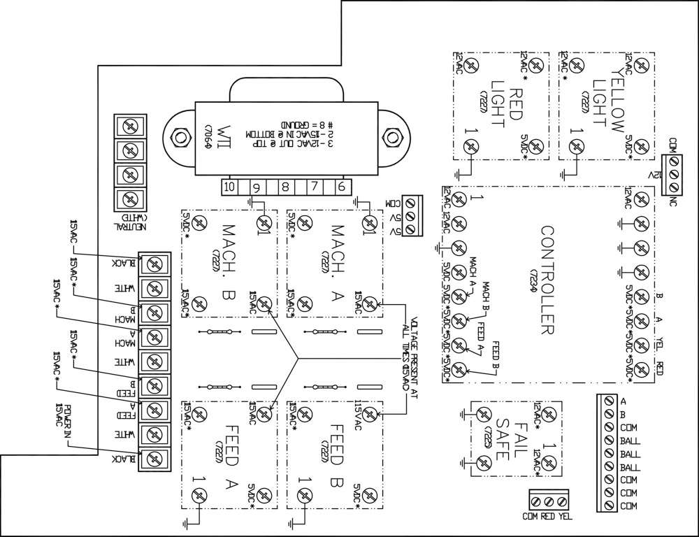 PT-6 circuit board diagram