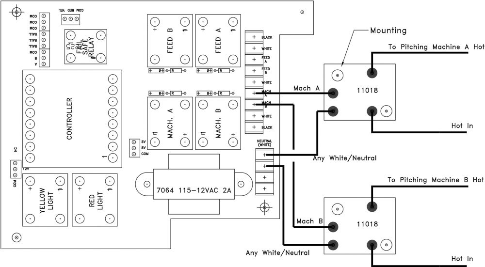 PT-4 with relay dual diagram