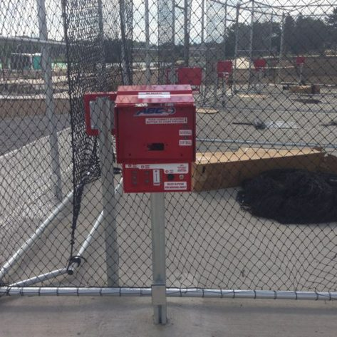 ABC coin box reader at outdoor batting cage