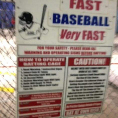 ABC batting cage sign