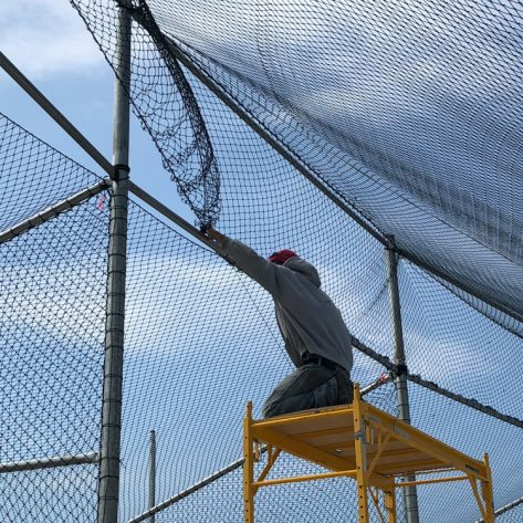 ABC batting cage fencing installation