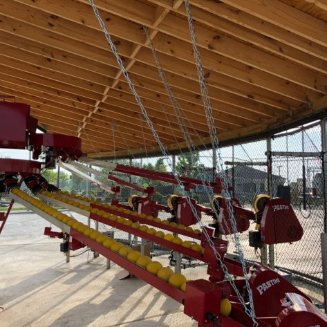 ABC pitching machines and conveyor system