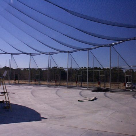 ABC outdoor batting cage construction