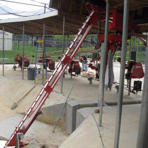 ABC outdoor batting cages construction
