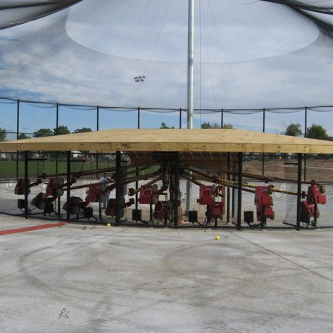 ABC outdoor batting cages and pitching machines