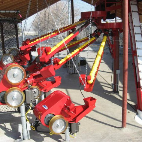 ABC pitching machine and conveyor belt