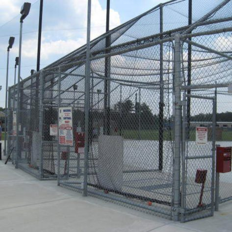 ABC outdoor batting cages with patrons