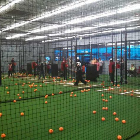 ABC indoor batting cages in use