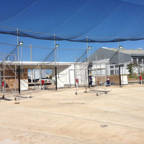 ABC batting cage construction