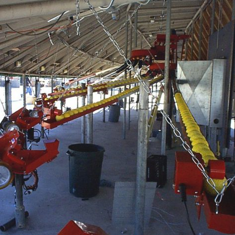 ABC pitching machines and conveyor example