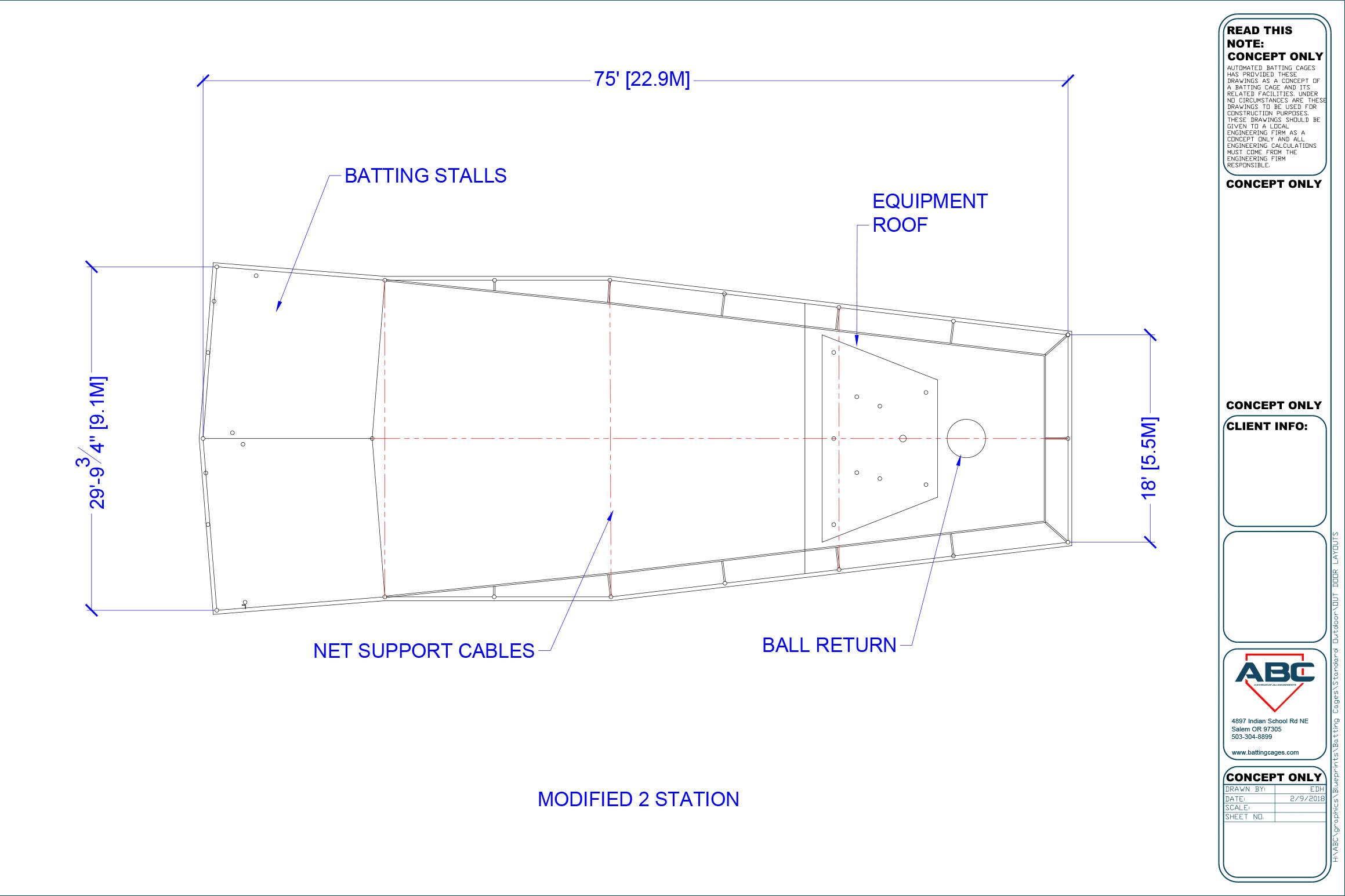 ABC modified 2 station blueprint