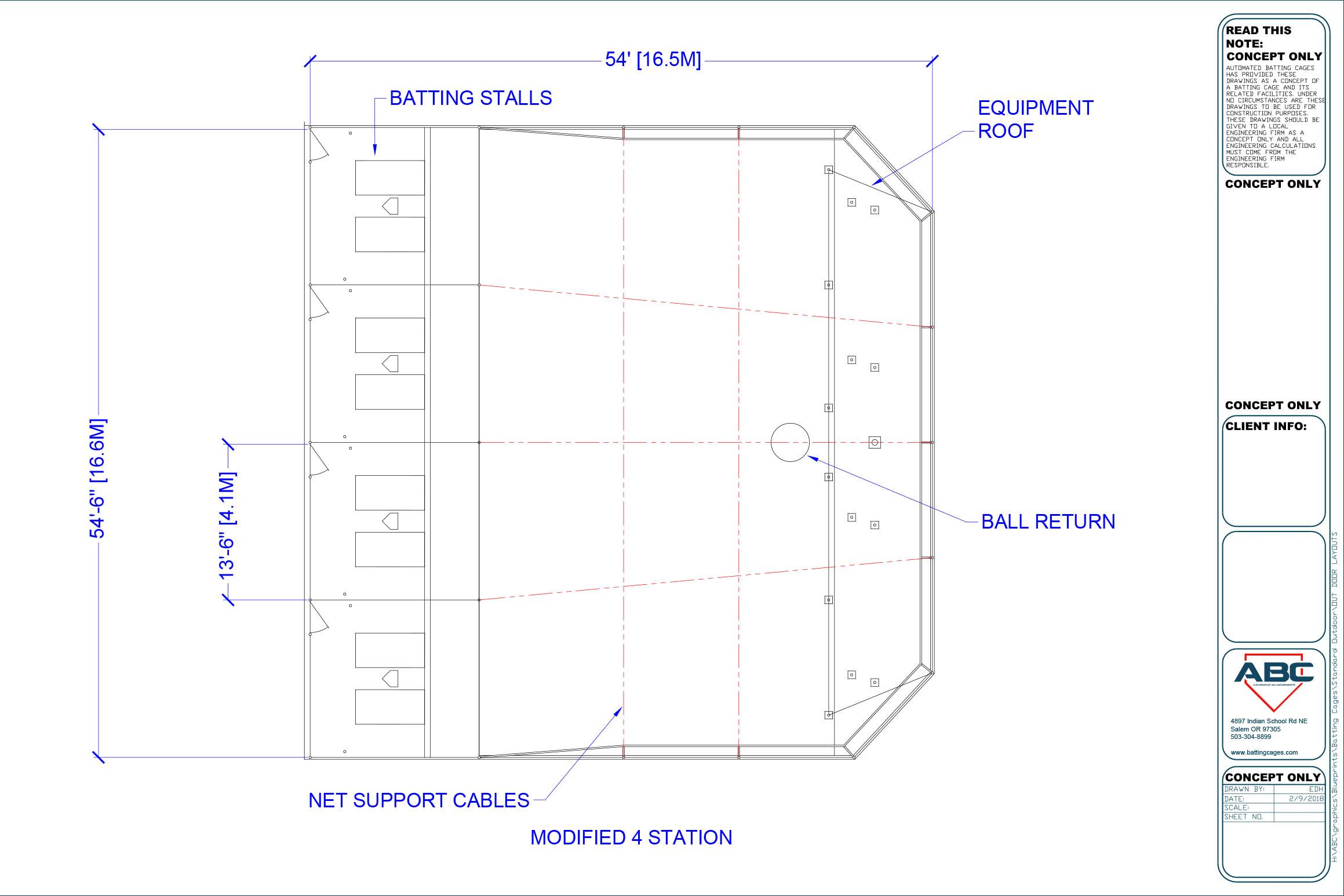 ABC modified 4 station blueprint
