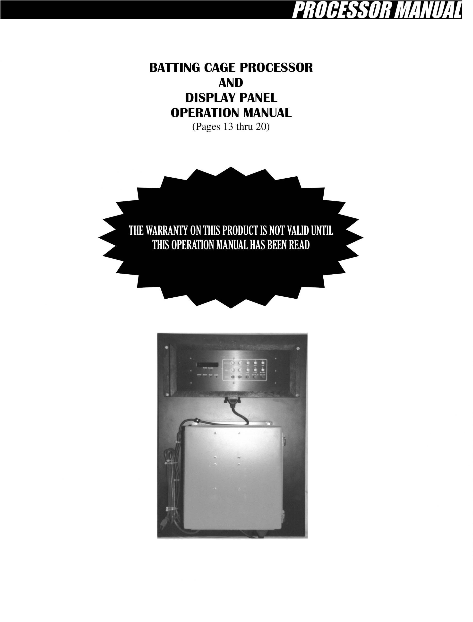 Processor manual