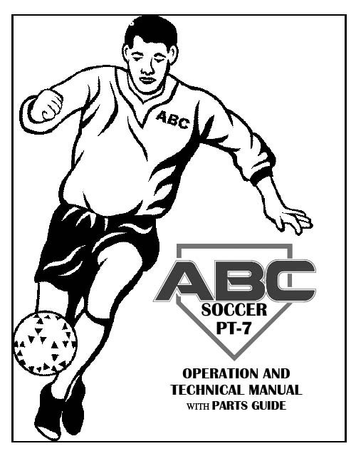 Service manuals, PT-7 Soccer Complete Manual