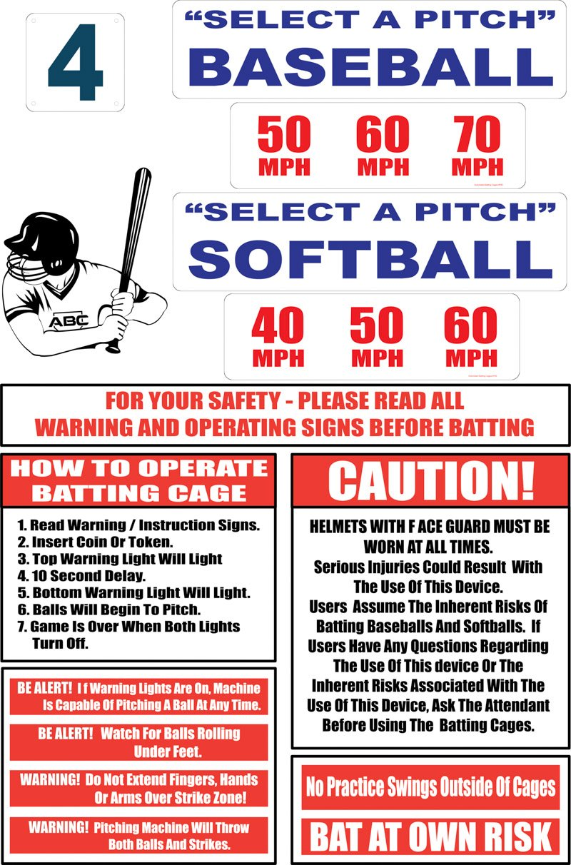 ABC Select-a-Pitch Baseball and Softball signs