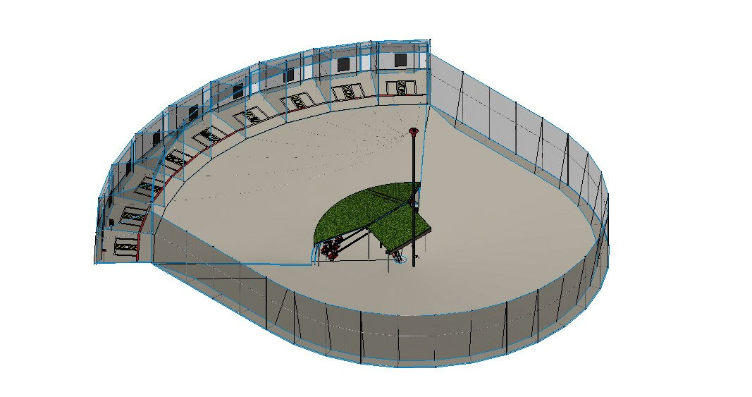 pitching machines, ABC batting cage diagram