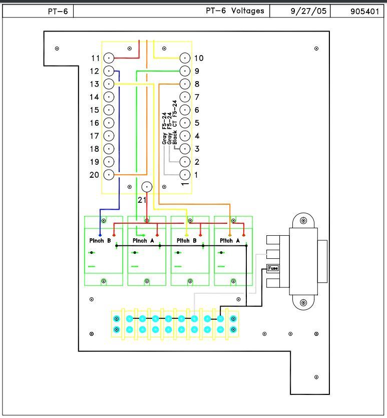 PT-6 circuit board diagram